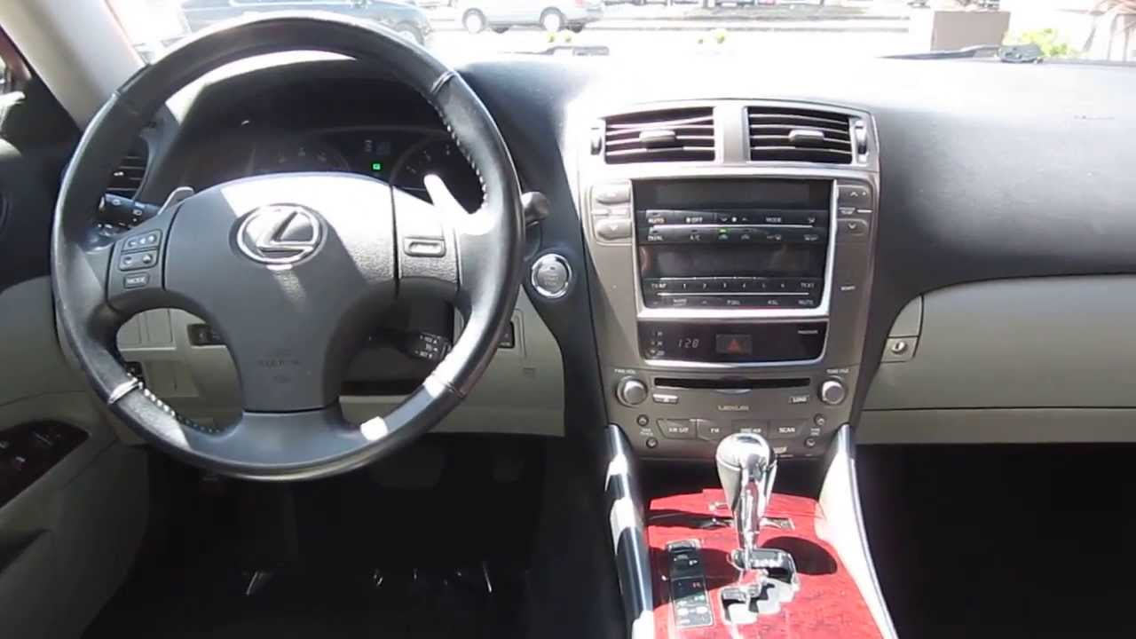2006 lexus is250 matador red mica stock 010833 interior youtube. Black Bedroom Furniture Sets. Home Design Ideas