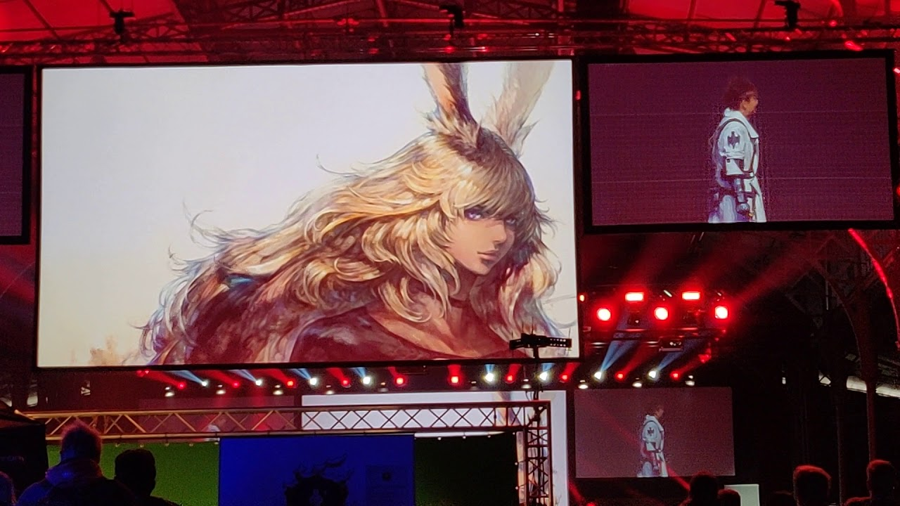 FFXIV Fanfest: Yoshi P Trolls and Viera Announcement [Crowd Reaction]