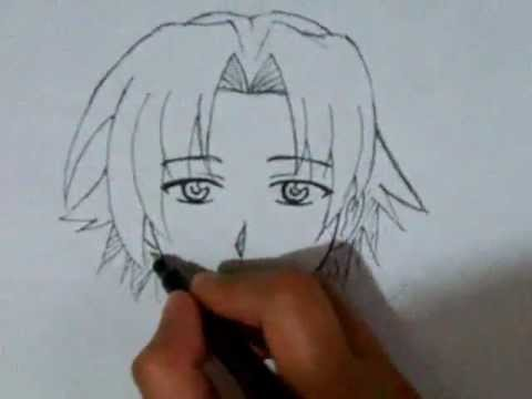 How to draw male manga face front view youtube