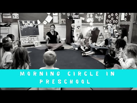 Morning Circle At Preschool