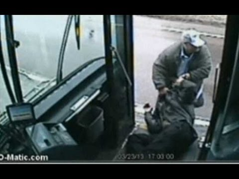 CCTV: Nebraska bus driver's brutal assault of passenger