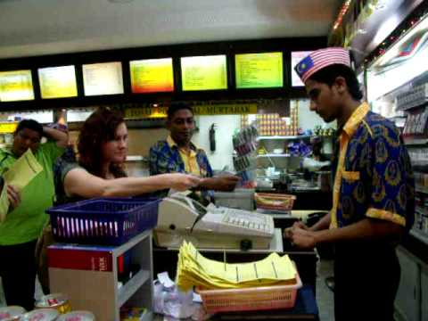 cash register guy in Malaysia - the fastest fingers