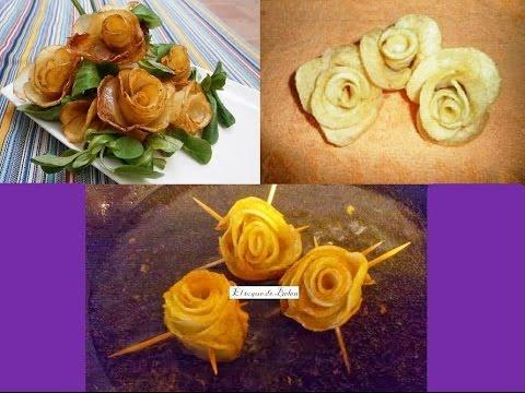 Flores o rosas de papa aprende a cocinar art sticos - Flores para cocinar ...