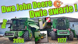 Dwa kombajny John Deere się zepsuły, odpadło koło !