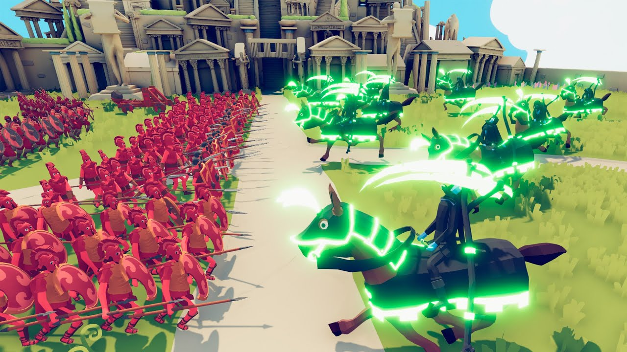 Horsemen of the Apocalypse vs Roman Turtle in TABS Army - Totally Accurate Battle Simulator