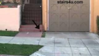 Building Drain Creates Safety Hazard - Poor Concrete Stairway Design
