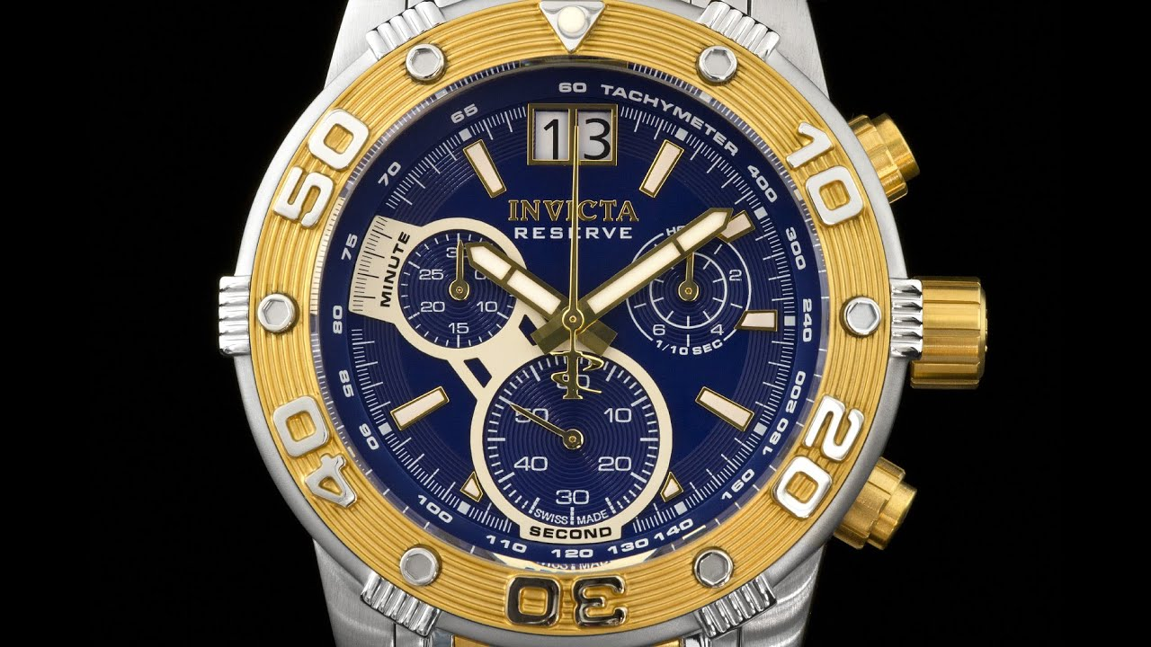 c33252ef22a Invicta 0761 Reserve Ocean Speedway Swiss Chronograph w 2 Tone Bracelet.  Time Visions