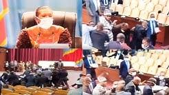 MOTION CONTRE KABUND  BAGARRE A L'ASSEMBLÉE NATIONALE , DESTITUTION,  JEANNINE MABUND SACRIFIE