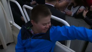 Pope Gives Boy With Down's Syndrome Gleeful Ride