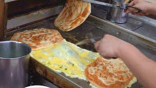 Omelet Green Onion Pancakes / 招牌蛋餅 - Taiwanese Street Food