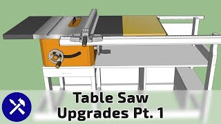 Top 5 DIY Table Saw Upgrades on a Budget: Large Rip Capacity, Outfeed, Casters, & More Pt. 1