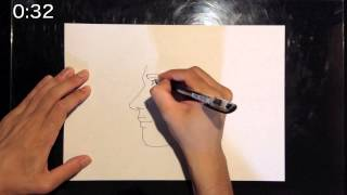 """I draw a picture in 1 minute. Today's theme is """"Masato Sakai"""". 1分..."""