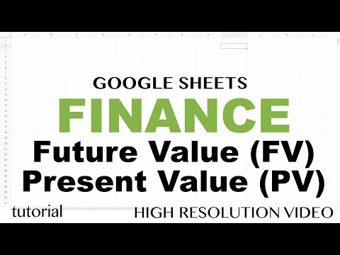 Google Sheets Finance Functions,  Future Value &  Present Value Explained,(FV, PV) Tutorial - Part 1