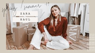 HUGE SPRING ZARA UNBOXING TRY ON HAUL | I Covet Thee