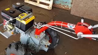 Видеообзор и ознакомление с мотоблоком Мотор Сич МБ-9Е (двигатель WM177FE)