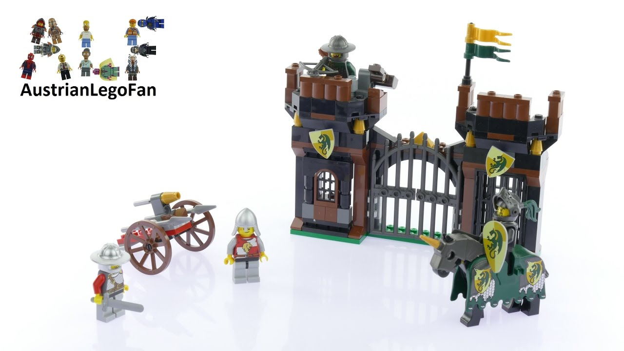 Lego Kingdoms 7187 Escape From The Dragons Prison Speed Drawbridge Defense 7079 Build Review