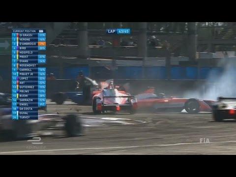 FIA Formula E Championship 2017. Mexico City ePrix. Hard Crash