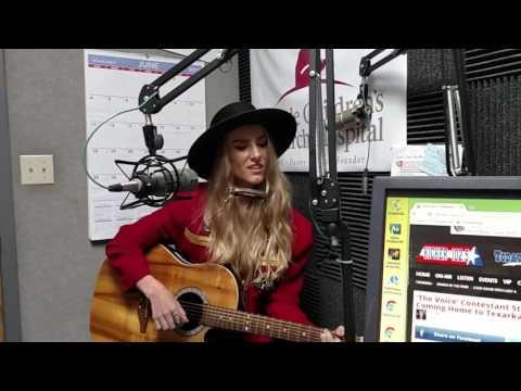 The Voice contestant Stephanie Rice performs at KKYR Texarkana