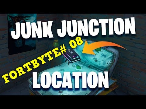 """Fortnite: Fortbyte #08 """"Found Within Junk Junction"""" - (Fortbyte Challenges) - """"In junk junction"""""""