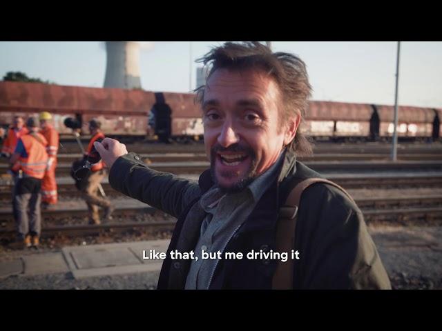 要進入世界最大汽車工廠前,先玩一台巨大的遙控火車~~《理查哈蒙玩很大》