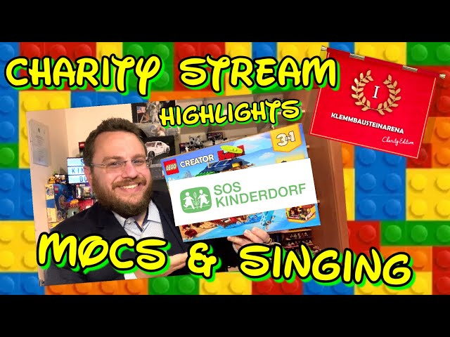 Charity Stream - Building Lego MOCs and Singing for the Kids - Klemmbausteinarena