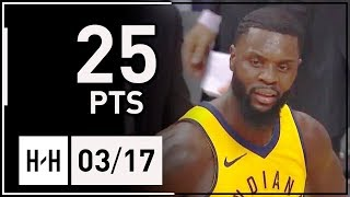 Lance Stephenson Full Highlights Pacers vs Wizards (2018.03.17) - 25 Points, 5 Assists