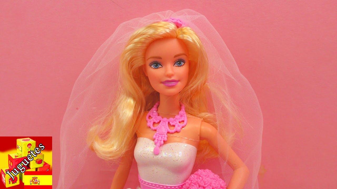 Muñeca Barbie con vestido de novia - YouTube