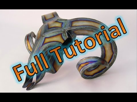How to - welded metal sculpture - Ram Skull - Full Tutorial