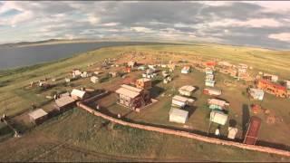 Привал странников Озеро Шира(Съемка с высоты птичьего полета, с помощью квадрокоптера Phantom-2, Озеро Шира в районе туристической базы