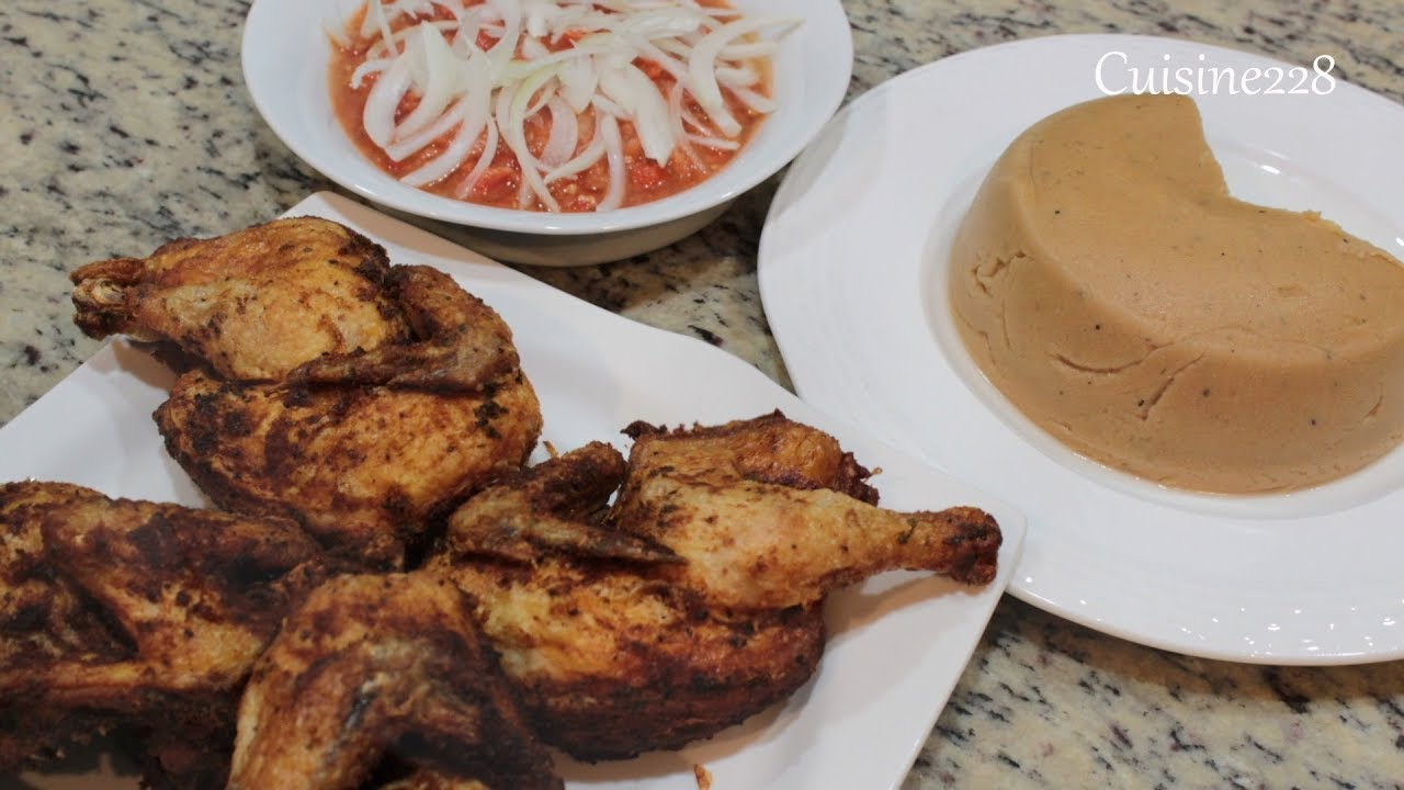 Download Djinkoumè  (Amiwo) with chicken and Yebessessi (Moyo)