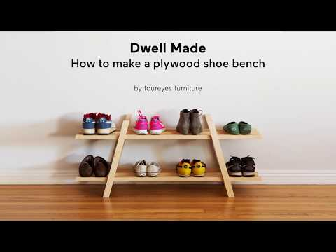 Modern DIY Plywood Shoe Bench | A Dwell Made Project