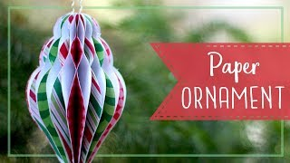 How To Make Paper Honeycomb Christmas Ornaments! 🎄  Craftmas