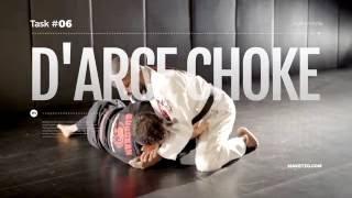 "The D'arce choke, also called ""no gi brabo choke,"" in Portuguese of..."