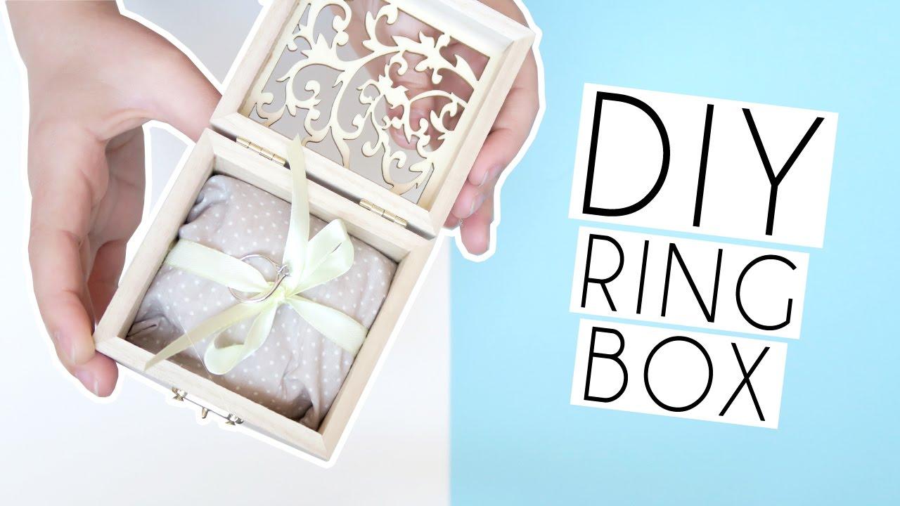DIY Wedding RING BOX | Paige Joanna - YouTube