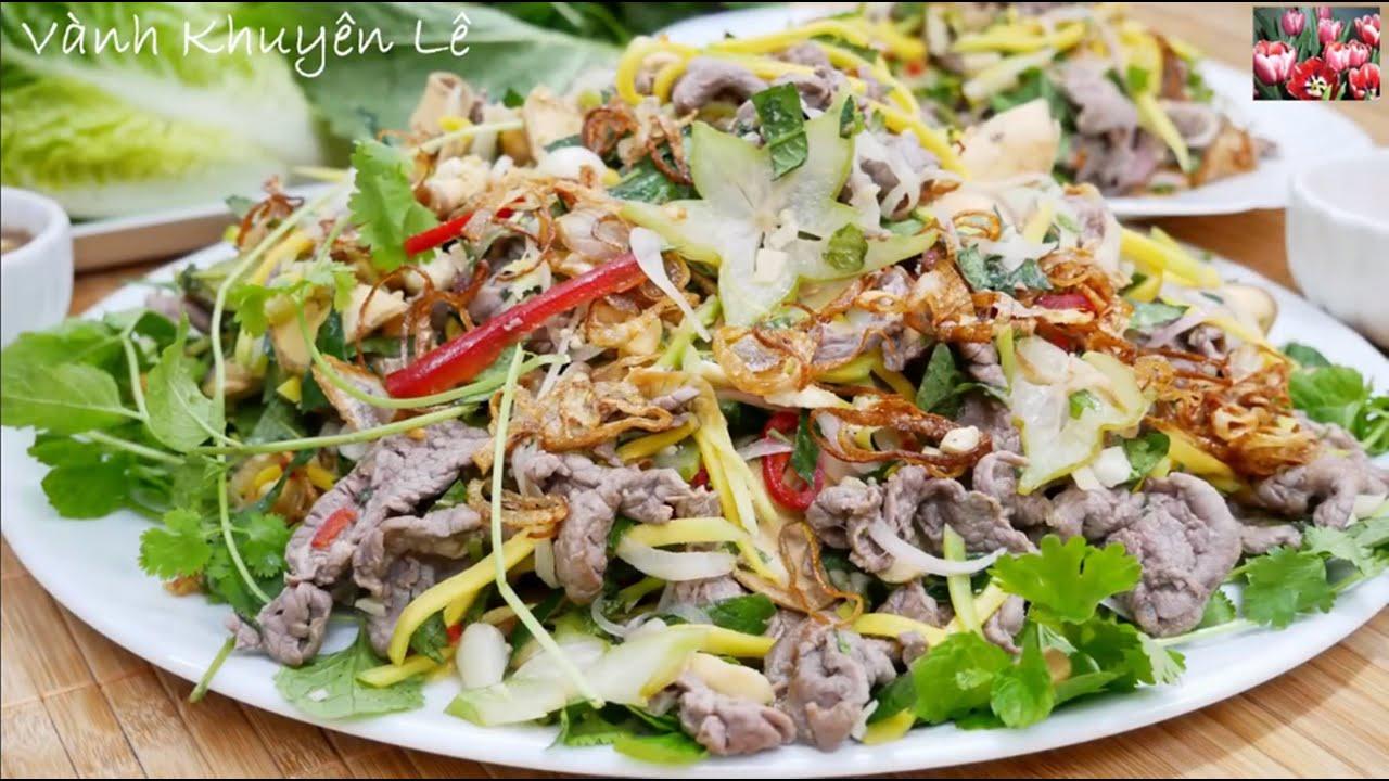 BÒ BÓP THẤU – Cách làm món Gỏi Bò thịt mềm ngọt, không bị dai, làm nước Chấm ngon by Vanh Khuyen