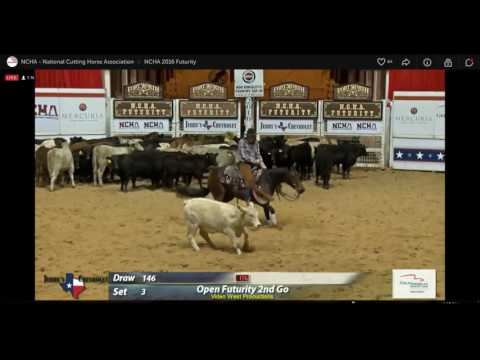 ROY CARTER ON SCOOTIN LIL GAL 2016 NCHA FUTURITY, 2ND ROUND, 3RD SET, 6TH HORSE