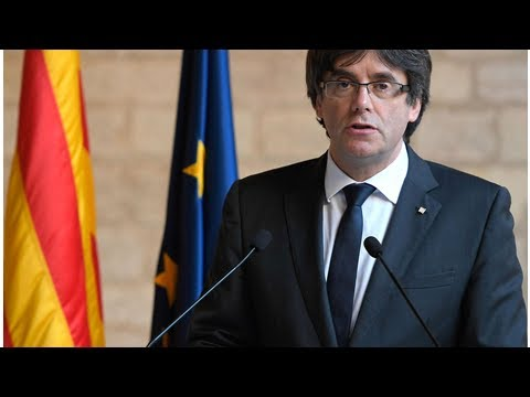Catalan leader carles puigdemont just handed himself in to police