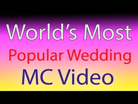 watch the WORLD's most popular Wedding MC video shows how to do it