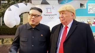 'Kim Jong-un' dạo phố cùng 'Donald Trump'