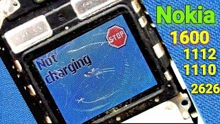 Nokia 1600 1112 1110  2300 2626 not charging program solution