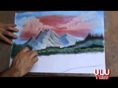 Pastel Boya Ve Parmakla Resim çizim Tekniği 1 Youtube