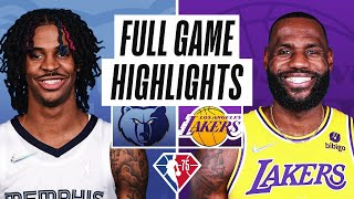 GRIZZLIES at LAKERS   FULL GAME HIGHLIGHTS   October 24, 2021
