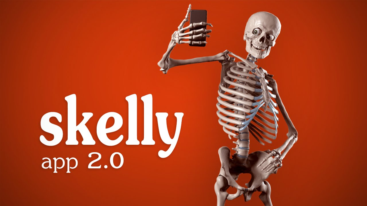 Skelly App 2.0 Trailer - Posable Art Model - YouTube