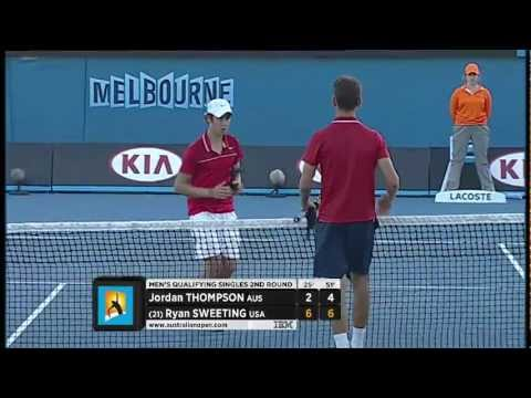 Qualifiers: Sweeting v Thompson  Australian Open 2013