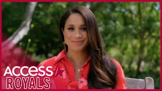Meghan Markle Beams Over Daughter-To-Be In 'Vax Live' Speech