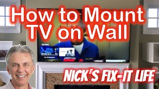 """How to Mount Your TV on a Wall - Samsung 65"""" Q6DT TV & Sanus Simplicity Mount - Nick's Fix it Life"""