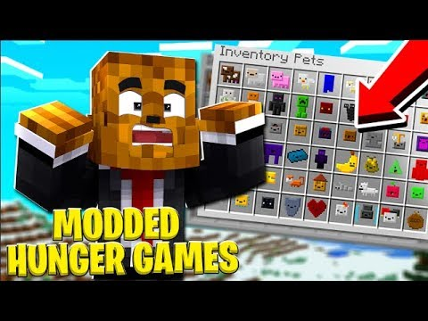 *OP INVENTORY PETS* Minecraft MODDED Hunger Games w/FavreMySabre - Minecraft Modded Minigame
