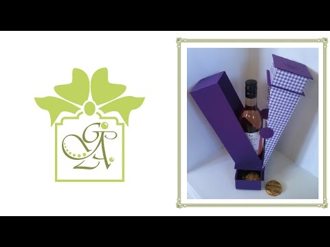 Small Wine Bottle And Gift Drop Sided Box With Two Drawers © (Gift Box Tutorial)