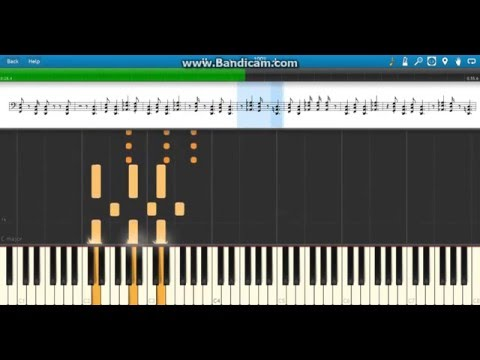 """""""Next Big Thing"""" Brock Lesnar WWE Theme on Piano - Synthesia"""