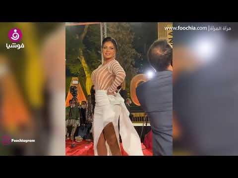رانيا يوسف بفستان شفاف في ختام القاهرة السينمائي